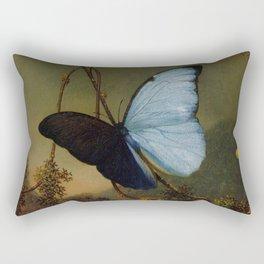 Blue Morpho Butterfly 1865 By Martin Johnson Heade | Reproduction Rectangular Pillow