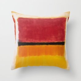 1949 Untitled (Violet, Black, Orange, Yellow on White and Red) by Mark Rothko Throw Pillow