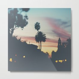 Sunset in Balboa Park print Metal Print