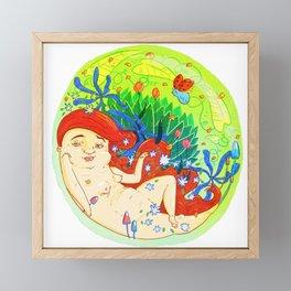 Globe Girl Framed Mini Art Print