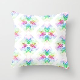 Colorful Rainbow Pattern Throw Pillow