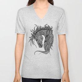 Zentangle Horse Artwork Unisex V-Neck