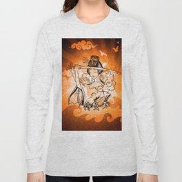 Samurai Woman Warrior, Gift to Martial Arts Girls Long Sleeve T-shirt