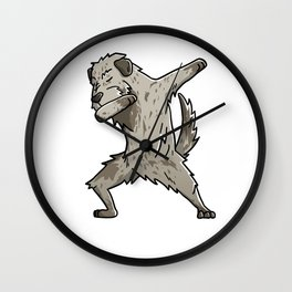 Funny Dabbing Irish Wolfhound Dog Dab Dance Wall Clock