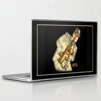 hitchcock Laptop & iPad Skins featuring Nigel Hitchcock by Lisa Hayden-Miller