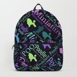Miniature Poodle Word Art Backpack