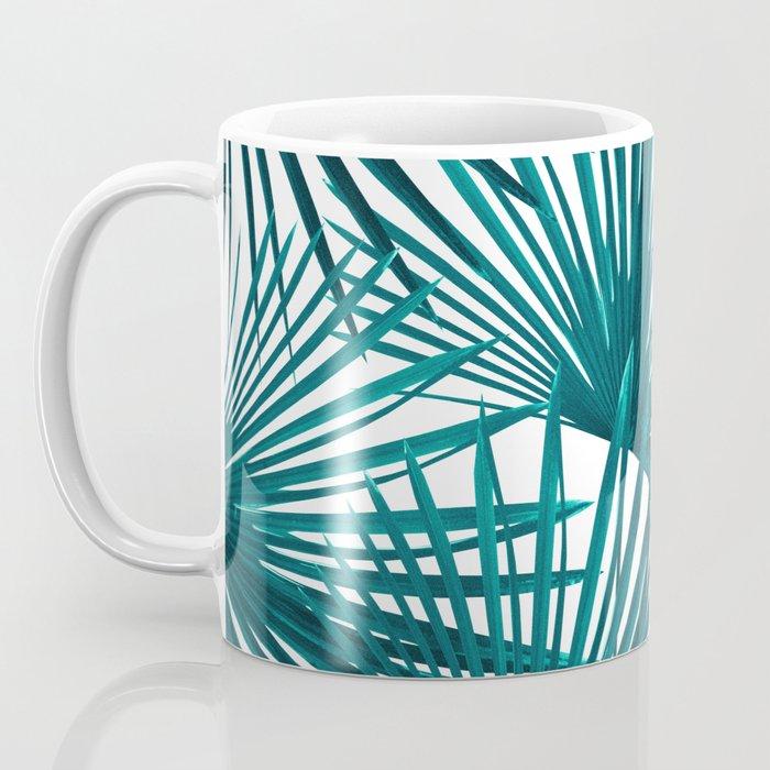 Tropical Fan Palm Leaves #3 #tropical #decor #art #society6 Coffee Mug