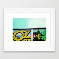 oz Framed Art Prints featuring Oz by Bella Blue Photography
