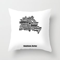 Berlin - Typocal Food Map Throw Pillow