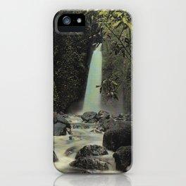 Hawaiian Waterfall Colorized Photo iPhone Case