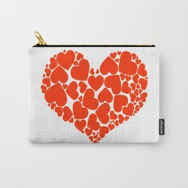 A Heart Full Of Love Red Valentine Hearts Within A Heart Carry-All Pouch