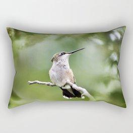 Charming Hummingbird Rectangular Pillow