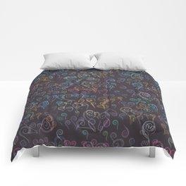 Pixelated Spirals Comforters