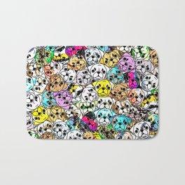 Gemstone Pugs Dogs Bath Mat