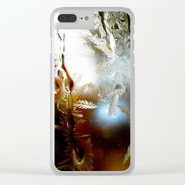 Early morning crystals Clear iPhone Case