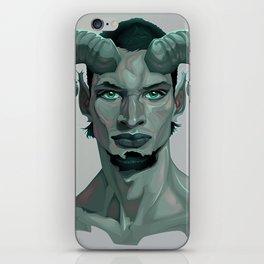Portrait of a faun iPhone Skin