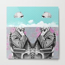 Vintage clouds in your head Metal Print