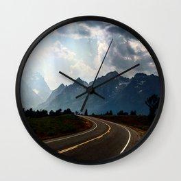 Grand Tetons Wall Clock