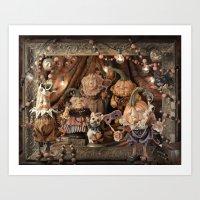 Rucus Studio Pumpkin Society Masquerade Ball Art Print