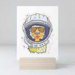 Llama Astronaut Funny Space and Llama Lover Mini Art Print