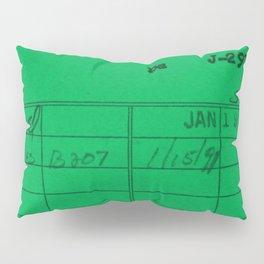 Library Card 797 Green Pillow Sham