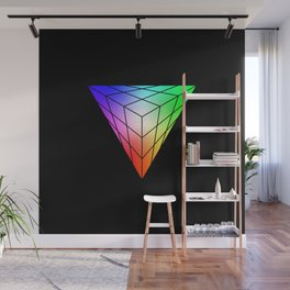 Triangle vs. Cube Wall Mural