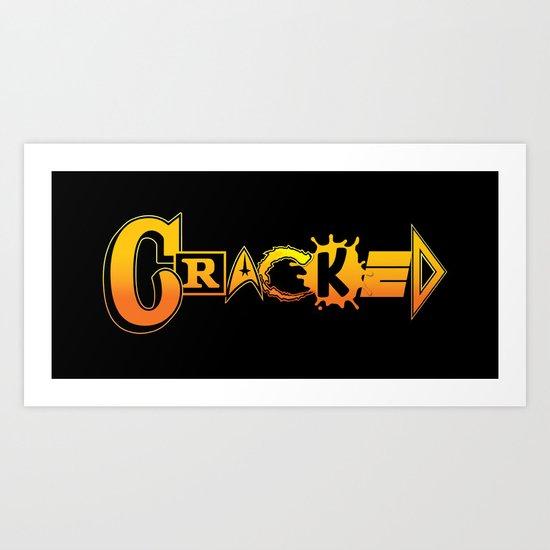 Elements of Cracked Art Print