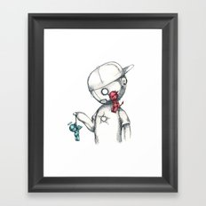 Let The Bad Guy Win Framed Art Print