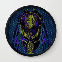 Soldier Predator Blue Yellow Wall Clock