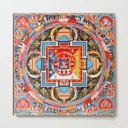 Buddhist Mandala of Jnanadakini Tangka Metal Print