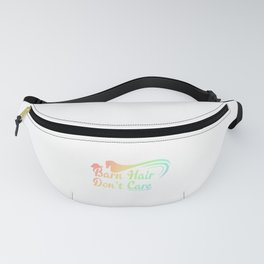 Horse Barn Hair Don't Care Horse Lover Equestrian Fanny Pack