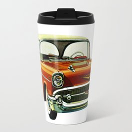 Vintage 1957 Red Bel Air Sport Sedan Travel Mug