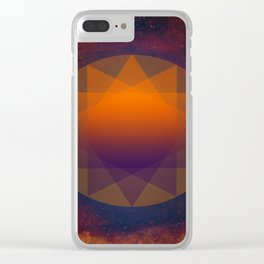 Merkaba, Abstract Geometric Shapes Clear iPhone Case