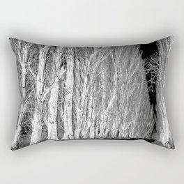 Avenue of trees monochrome Rectangular Pillow