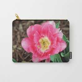 Pink Double Tulip Carry-All Pouch