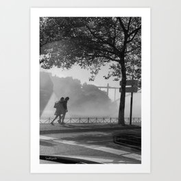 the walk Art Print