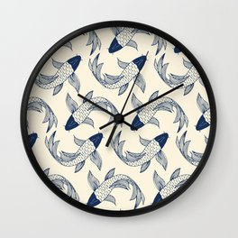 Koi Traditional Japanese Inspired 1 Wall Clock