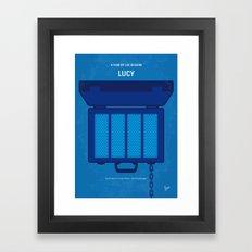 No574 My Lucy minimal movie poster Framed Art Print
