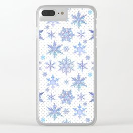 Snowflakes #1 Clear iPhone Case