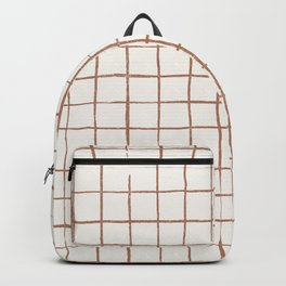 Imperfect Grid in Ivory and Clay Backpack