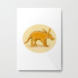Aardvark African Ant Bear Drawing Metal Print