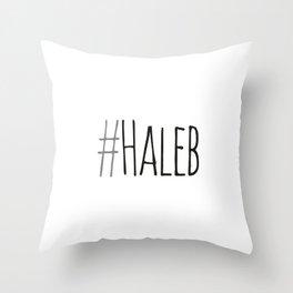 #haleb Throw Pillow