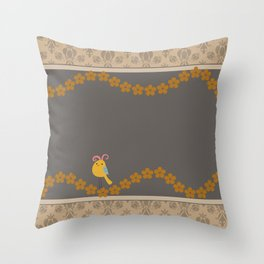 Scrap Yellow Bird Throw Pillow