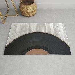 Vinyl record design Rug