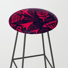 N31 - Lovely Colored Blue & Pink Moroccan Followers Texture Style. Bar Stool