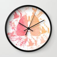 lungs Wall Clocks featuring lungs by divinerush