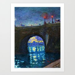 Paris Riverscape - Pont Neuf by Achille-Émile Othon Friesz Art Print