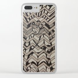 Deco Lady Clear iPhone Case