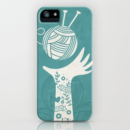 Yarn Love - Teal  iPhone Case