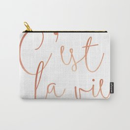 C'est la vie Rose Gold #society6 #decor #buyart Carry-All Pouch